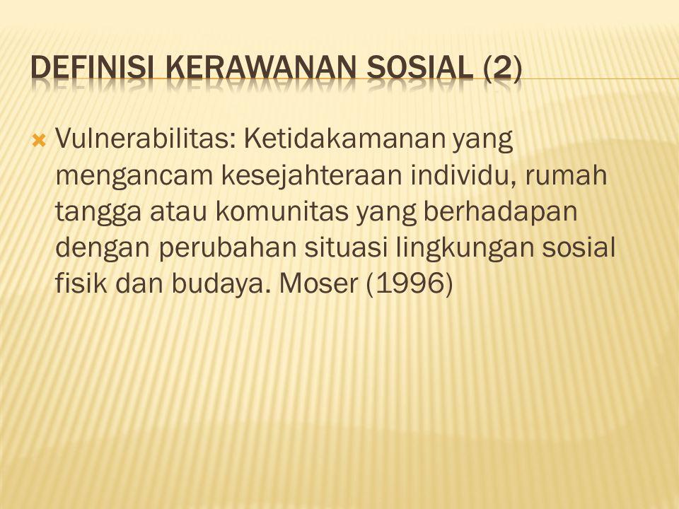 Definisi Kerawanan Sosial (2)