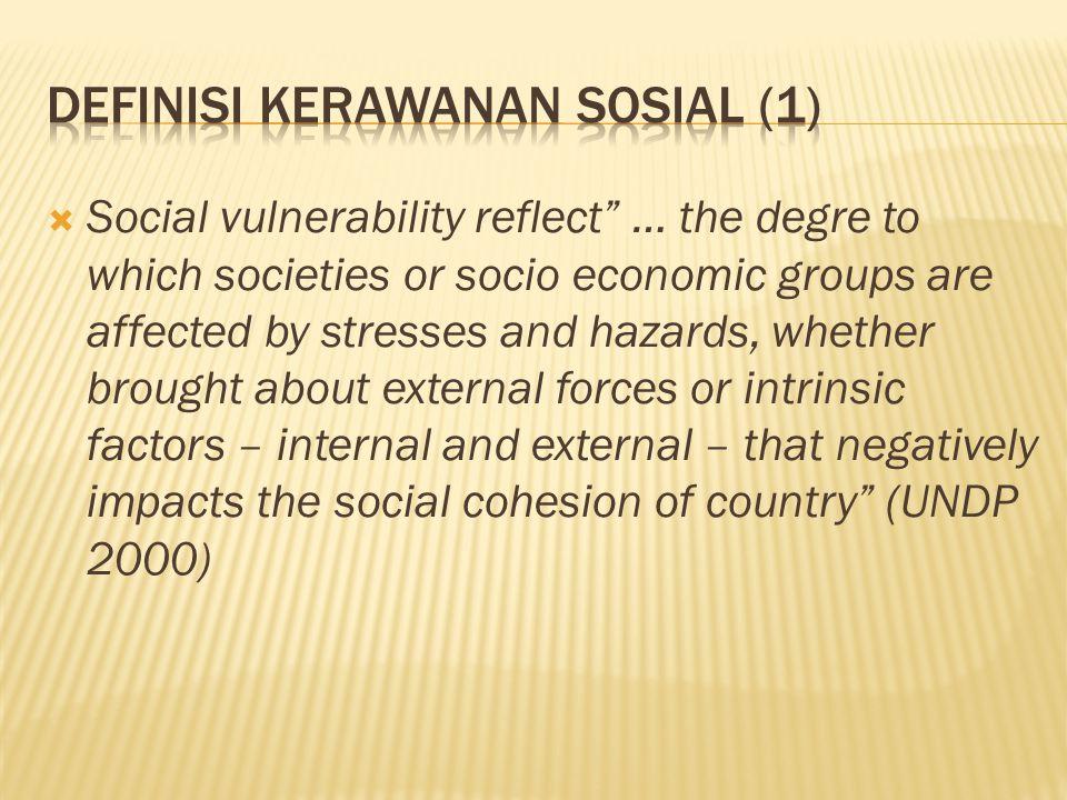 Definisi Kerawanan Sosial (1)