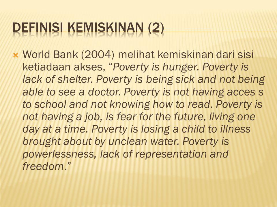 Definisi Kemiskinan (2)