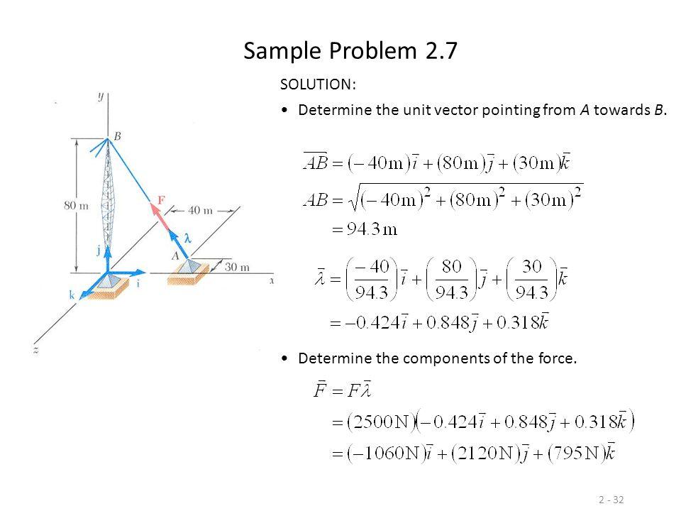 Sample Problem 2.7 SOLUTION: