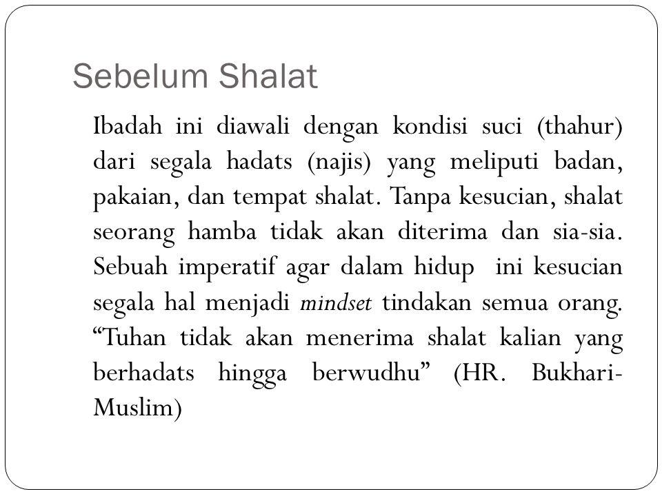Sebelum Shalat