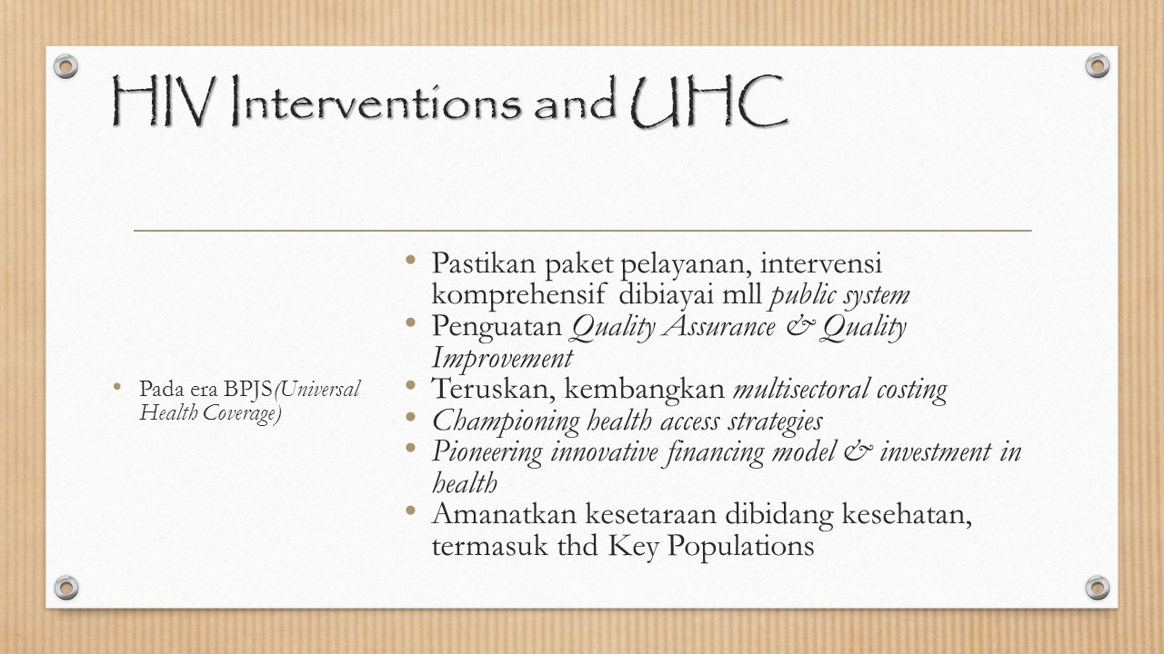 HIV Interventions and UHC