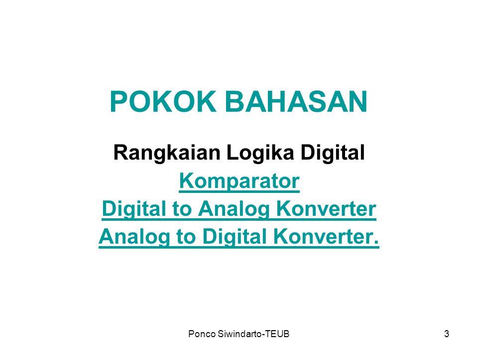 POKOK BAHASAN Rangkaian Logika Digital Komparator