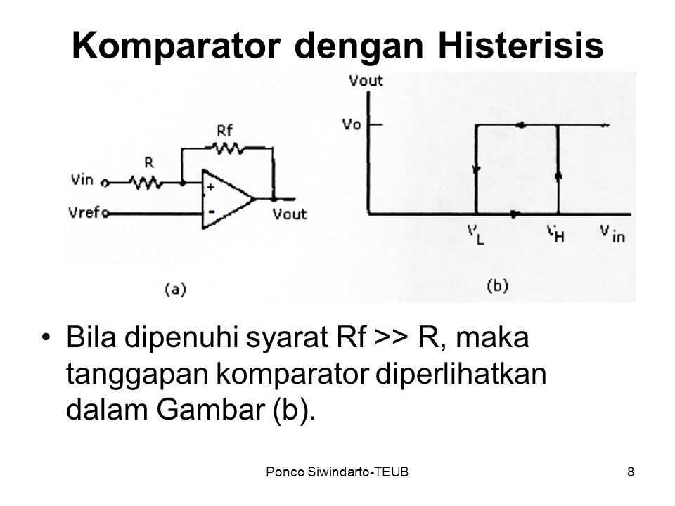 Komparator dengan Histerisis