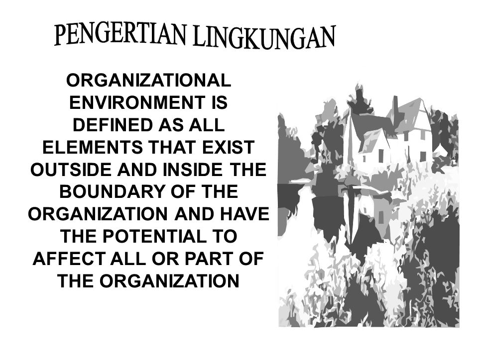 PENGERTIAN LINGKUNGAN