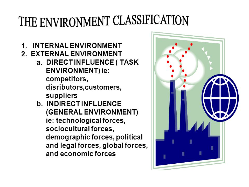 THE ENVIRONMENT CLASSIFICATION