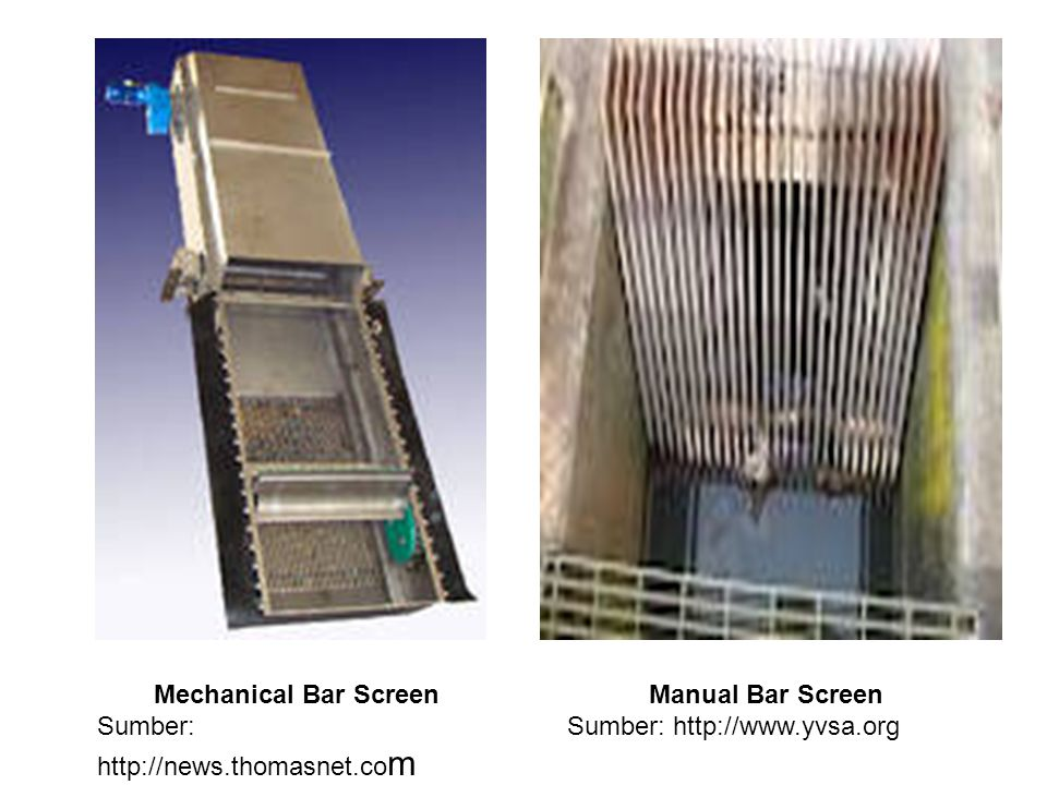 Mechanical Bar Screen Sumber: http://news.thomasnet.com.