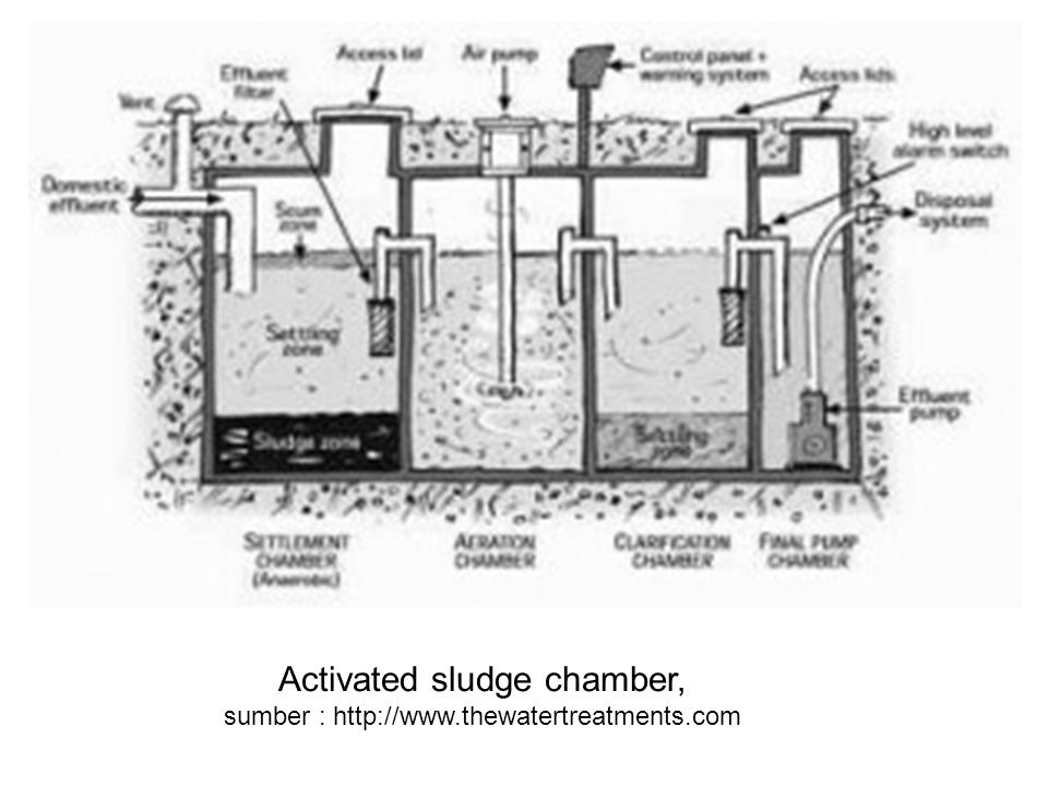 Activated sludge chamber, sumber : http://www.thewatertreatments.com