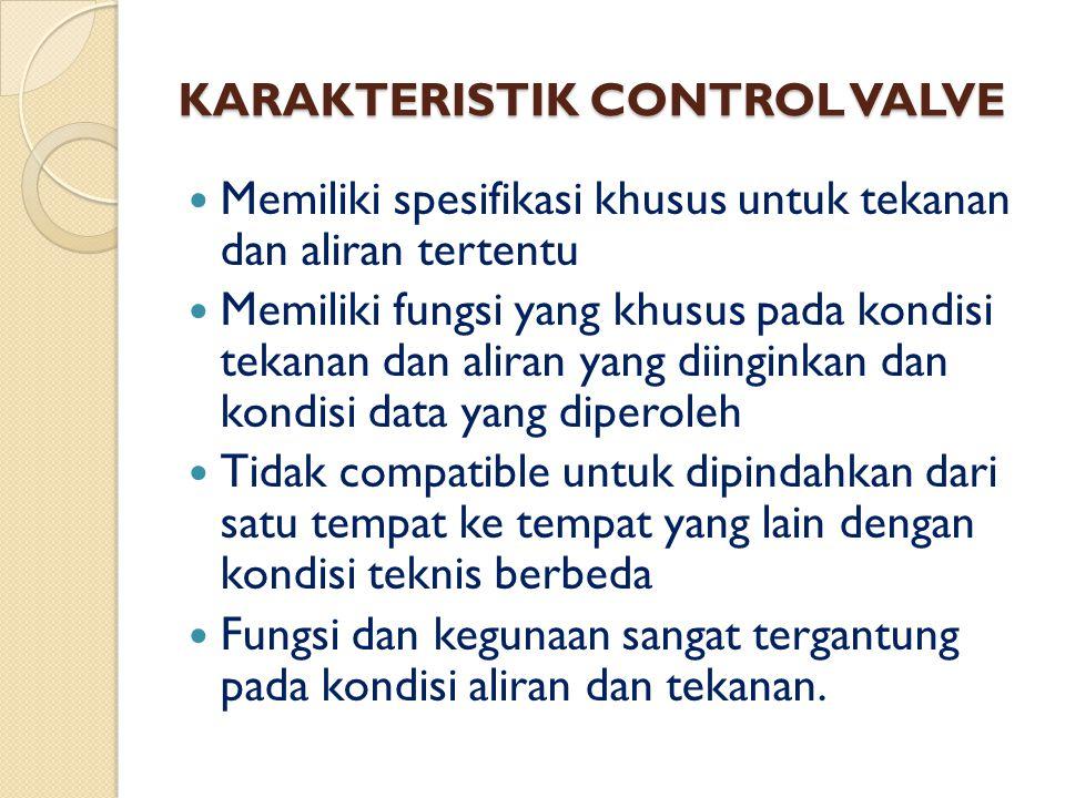 KARAKTERISTIK CONTROL VALVE