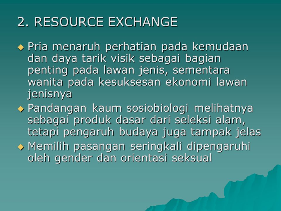 2. RESOURCE EXCHANGE