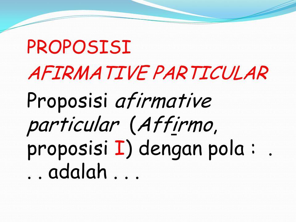 AFIRMATIVE PARTICULAR