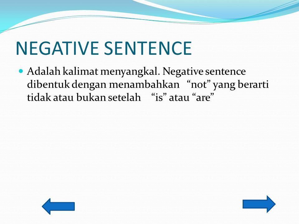 NEGATIVE SENTENCE