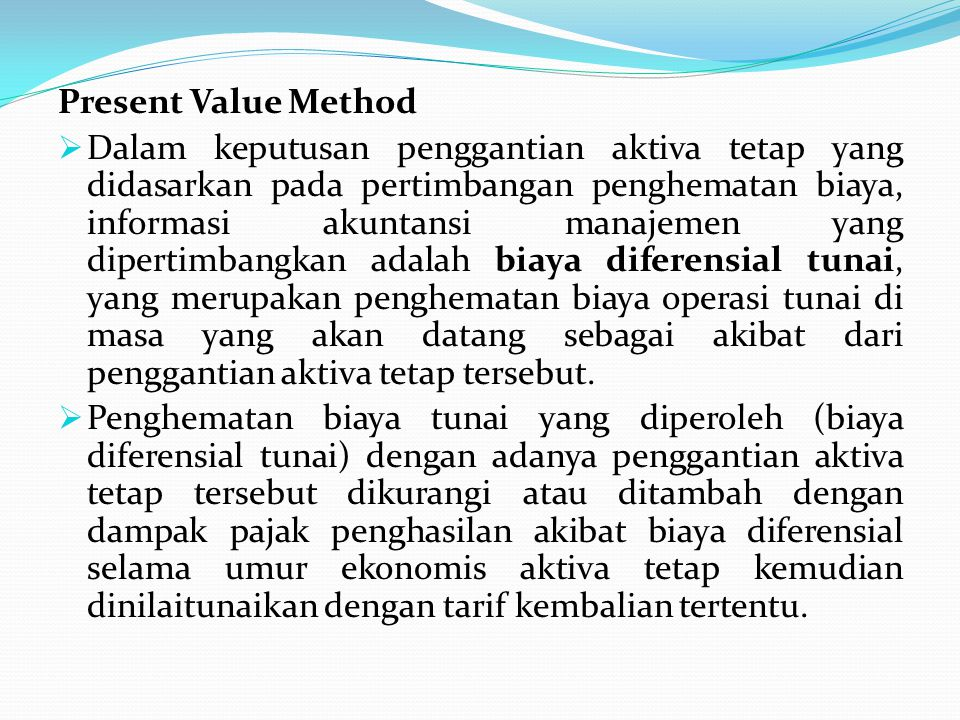 Present Value Method