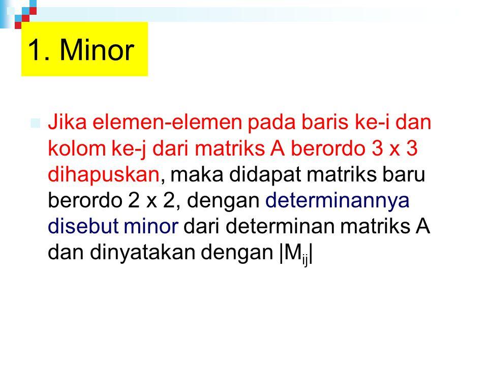 1. Minor