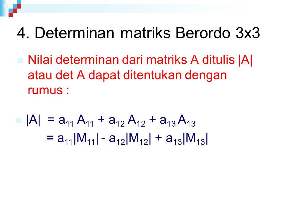 4. Determinan matriks Berordo 3x3