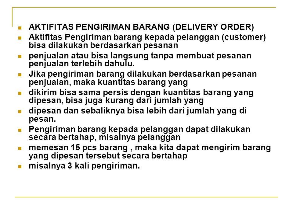 AKTIFITAS PENGIRIMAN BARANG (DELIVERY ORDER)