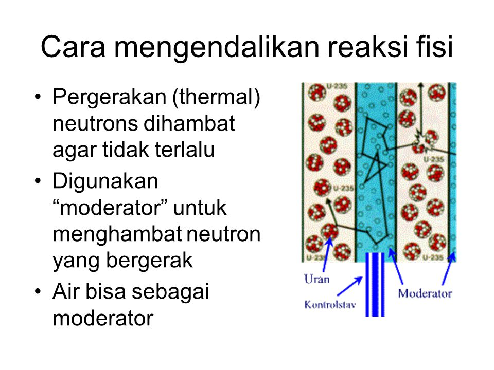 Cara mengendalikan reaksi fisi