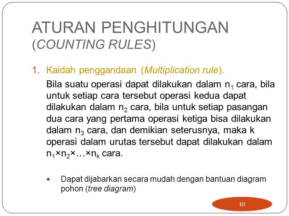 ATURAN PENGHITUNGAN (COUNTING RULES)