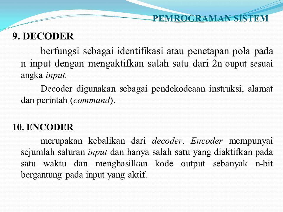 PEMROGRAMAN SISTEM 9. DECODER.