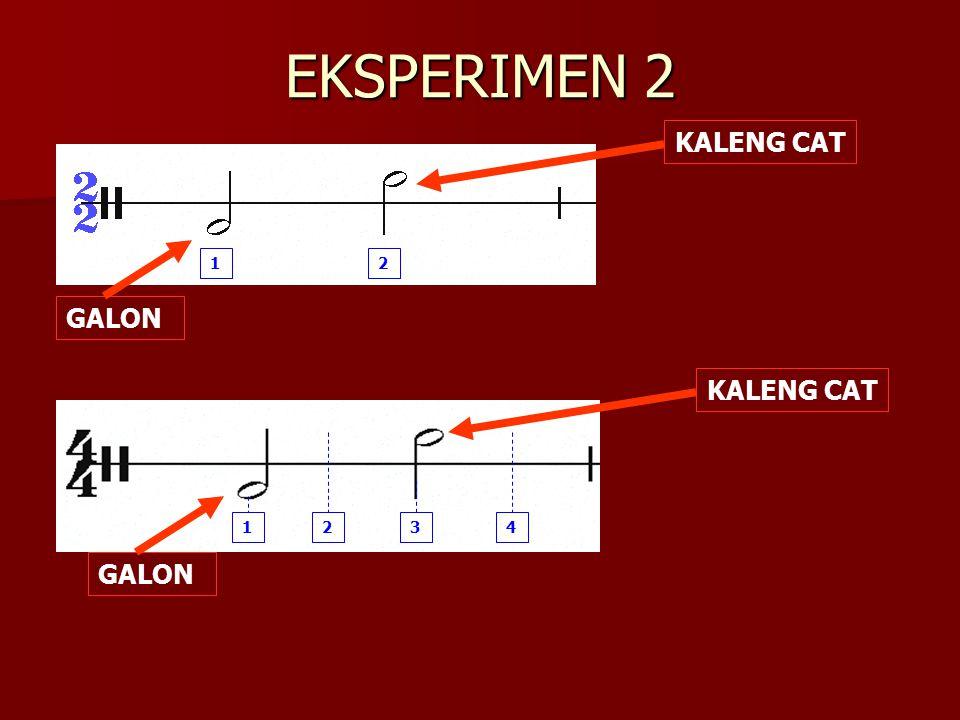 EKSPERIMEN 2 1 2 GALON KALENG CAT 1 2 3 4 GALON KALENG CAT