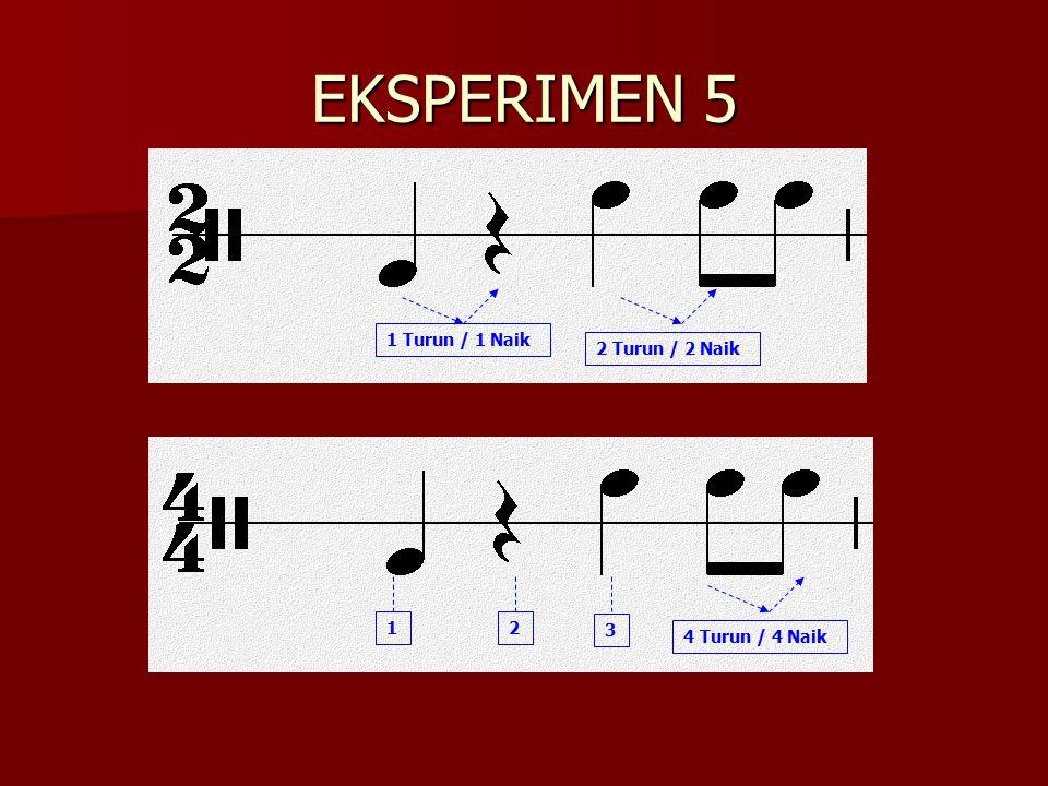 EKSPERIMEN 5 1 Turun / 1 Naik 2 Turun / 2 Naik 4 Turun / 4 Naik 2 3 1