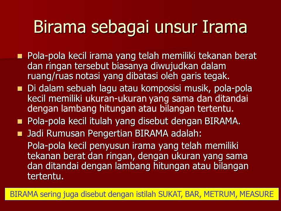 Birama sebagai unsur Irama
