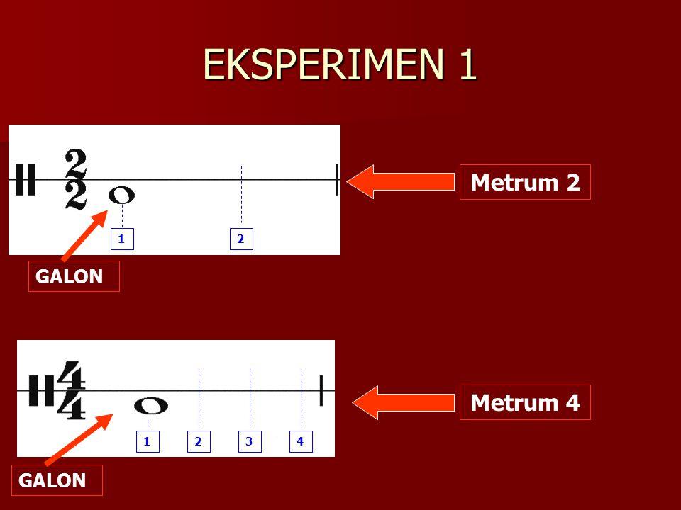 EKSPERIMEN 1 1 2 Metrum 2 GALON 1 2 3 4 Metrum 4 GALON