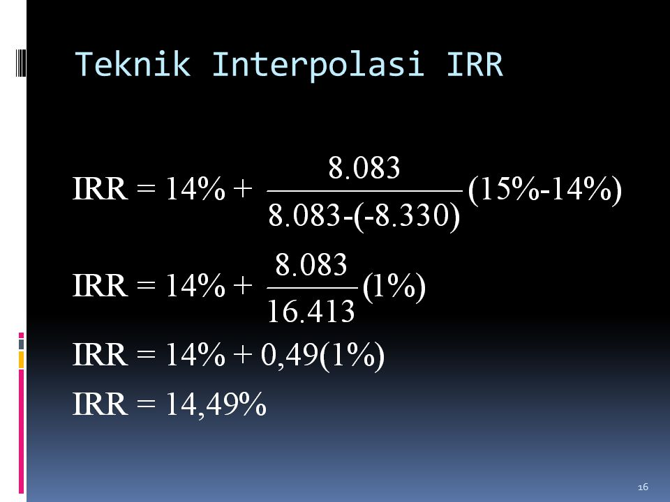 Teknik Interpolasi IRR