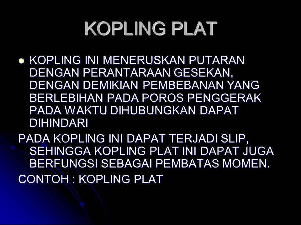 KOPLING PLAT