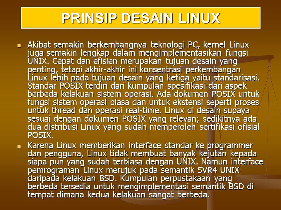 PRINSIP DESAIN LINUX