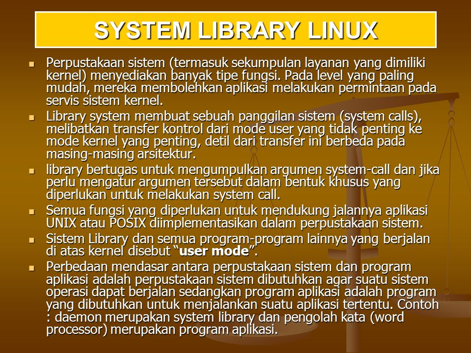 SYSTEM LIBRARY LINUX