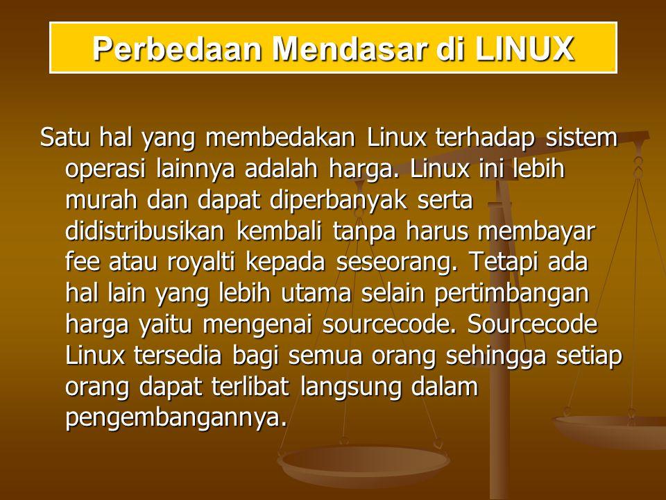 Perbedaan Mendasar di LINUX