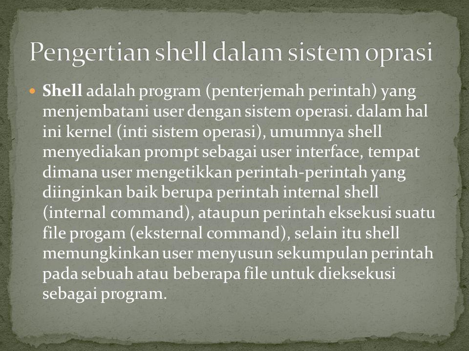 Pengertian shell dalam sistem oprasi