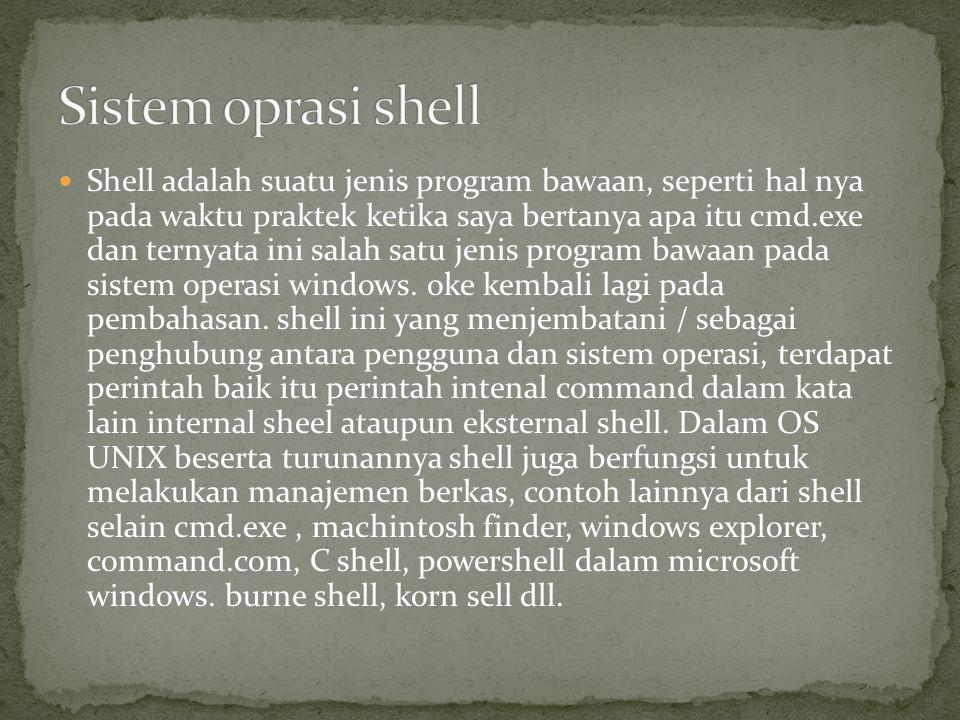 Sistem oprasi shell