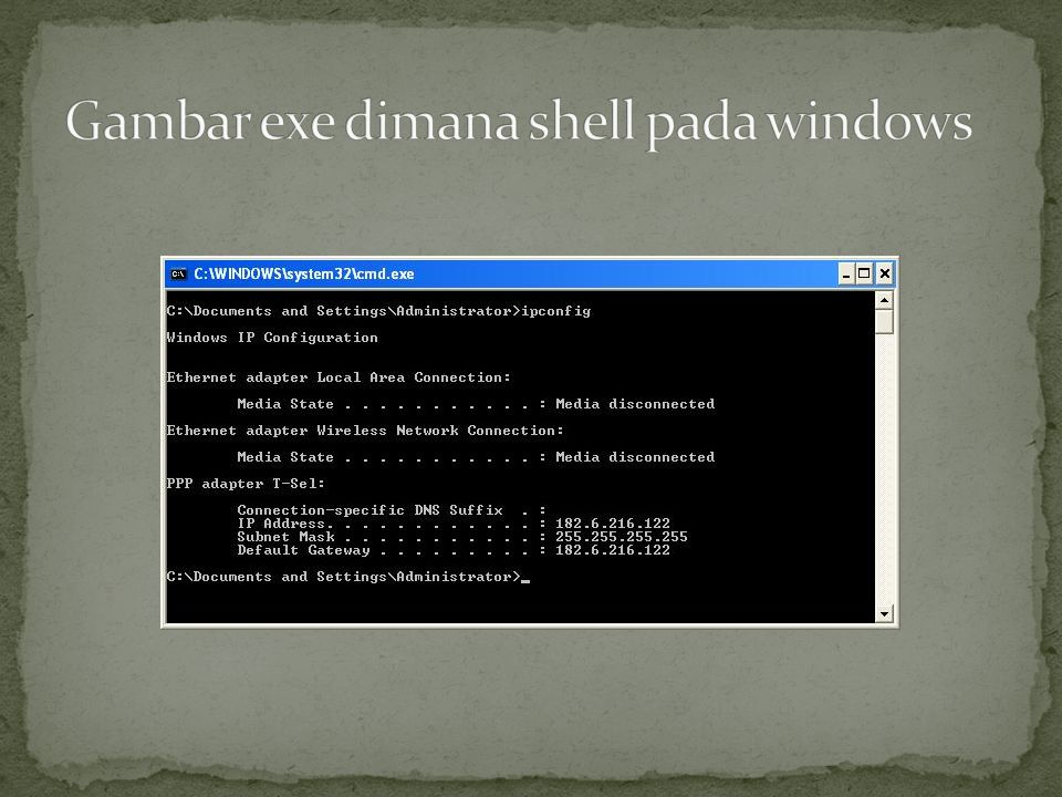 Gambar exe dimana shell pada windows