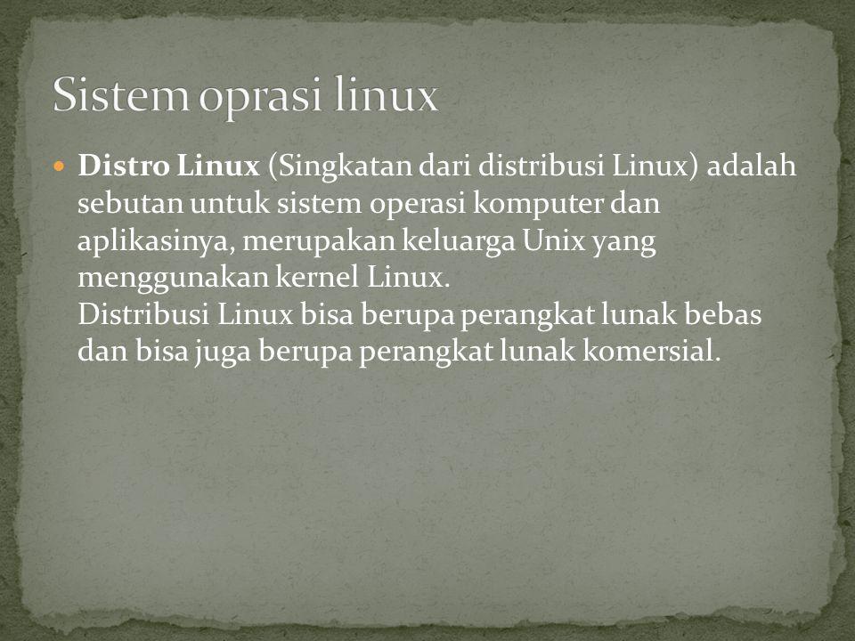 Sistem oprasi linux