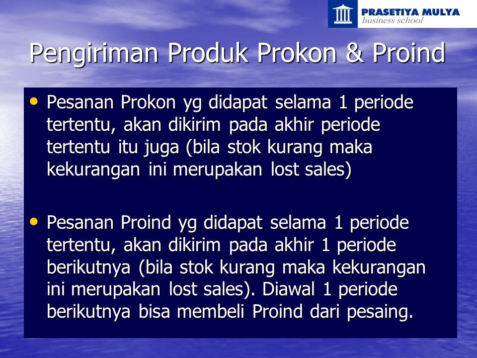 Pengiriman Produk Prokon & Proind