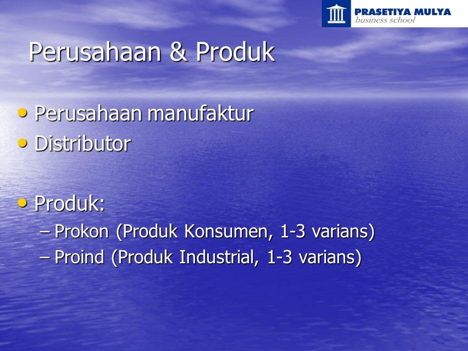 Perusahaan & Produk Perusahaan manufaktur Distributor Produk: