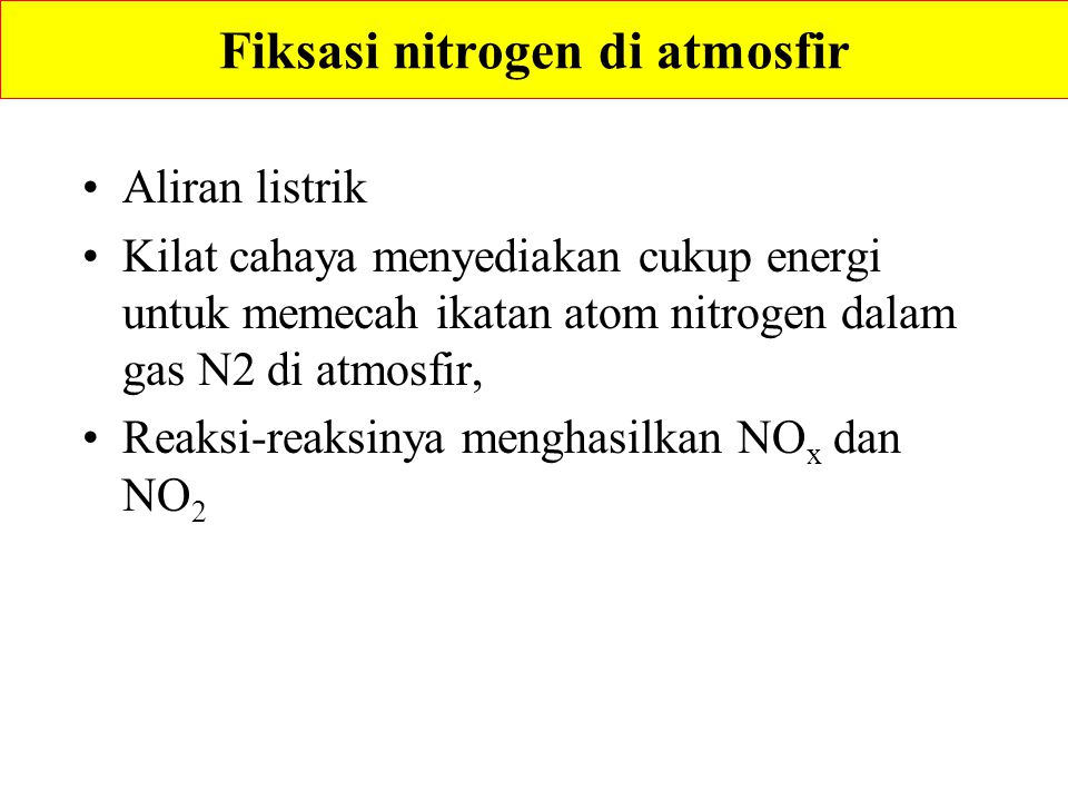 Fiksasi nitrogen di atmosfir