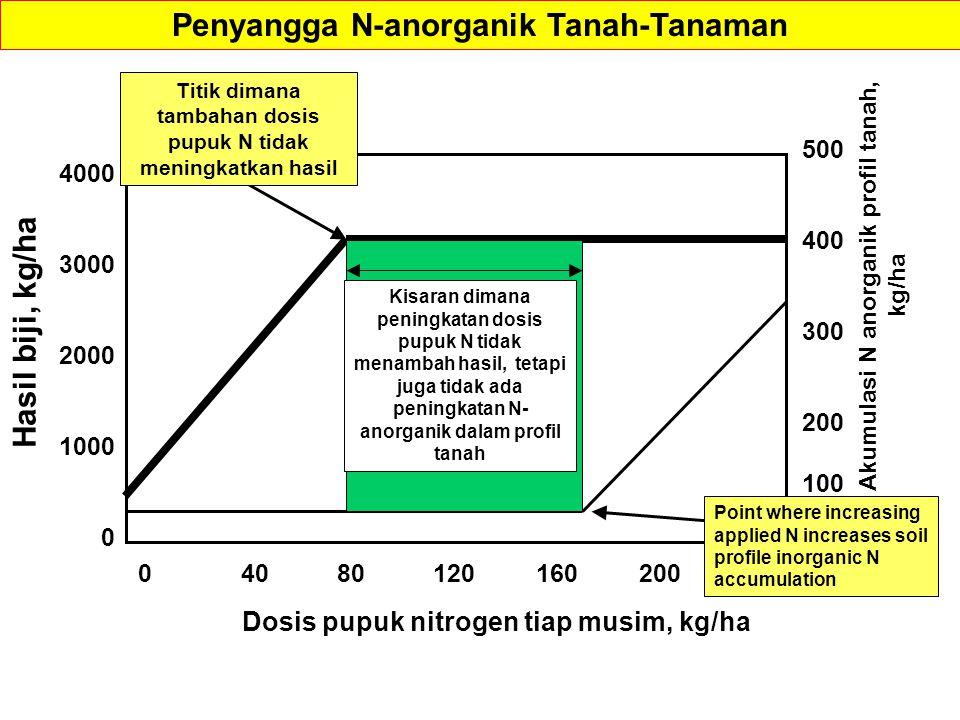 Penyangga N-anorganik Tanah-Tanaman