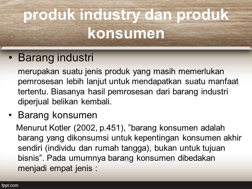 produk industry dan produk konsumen
