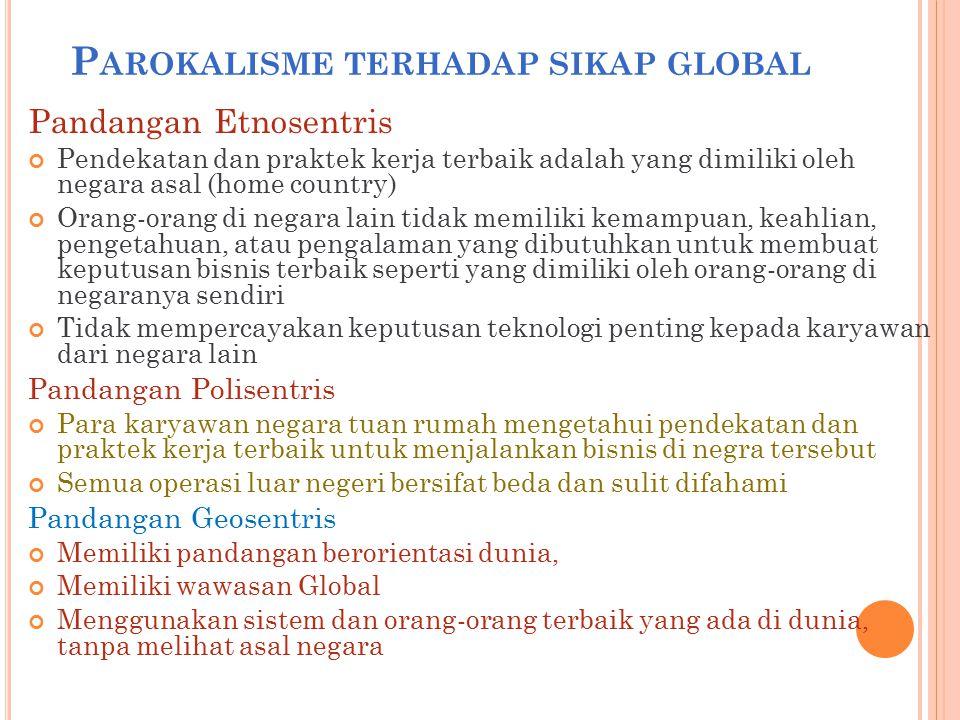 Parokalisme terhadap sikap global