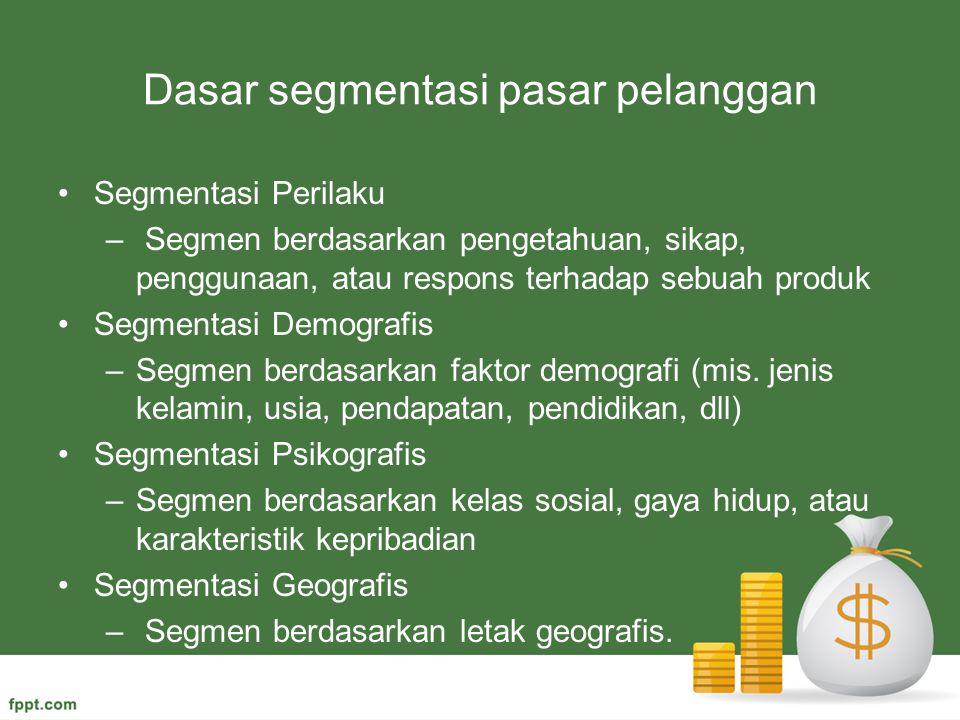 Dasar segmentasi pasar pelanggan
