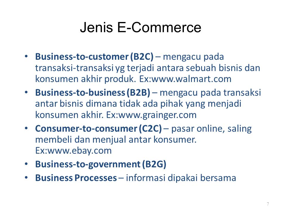 Jenis E-Commerce