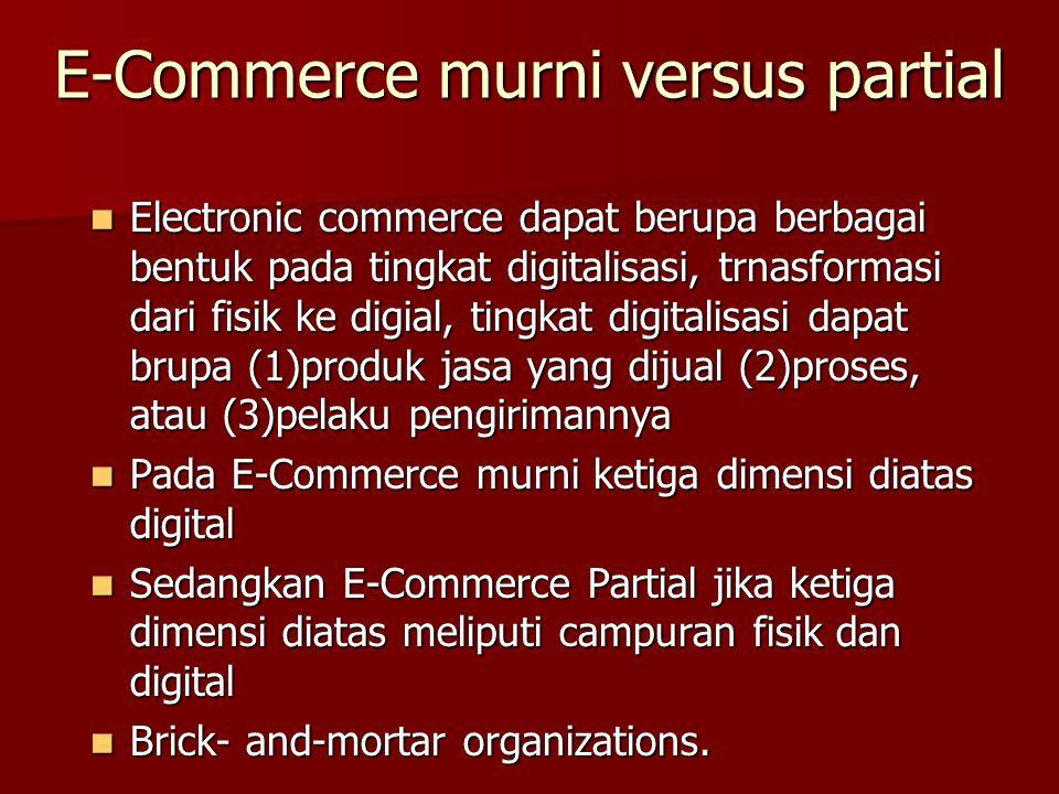 E-Commerce murni versus partial
