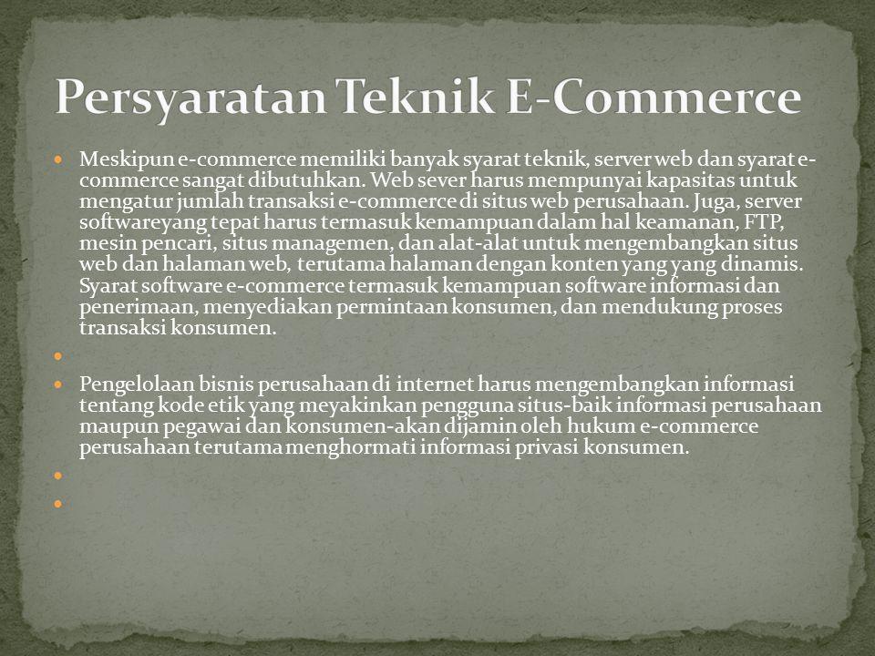 Persyaratan Teknik E-Commerce