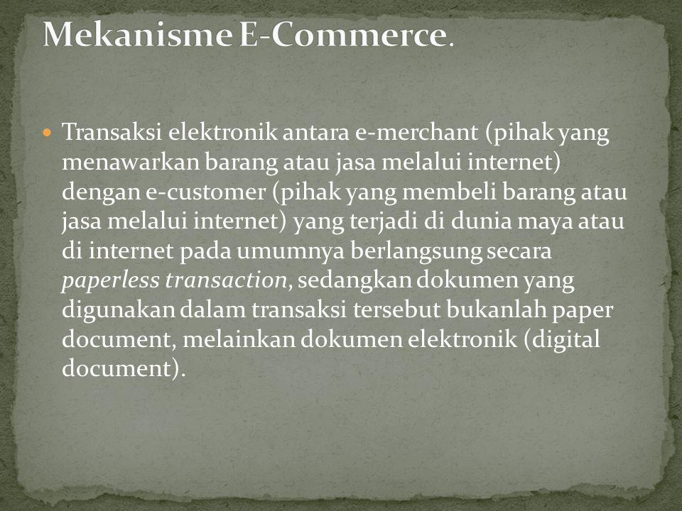 Mekanisme E-Commerce.