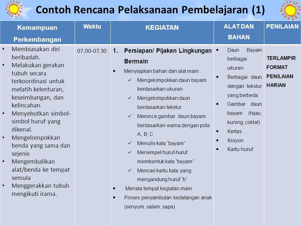 Contoh Rencana Pelaksanaan Pembelajaran (1)