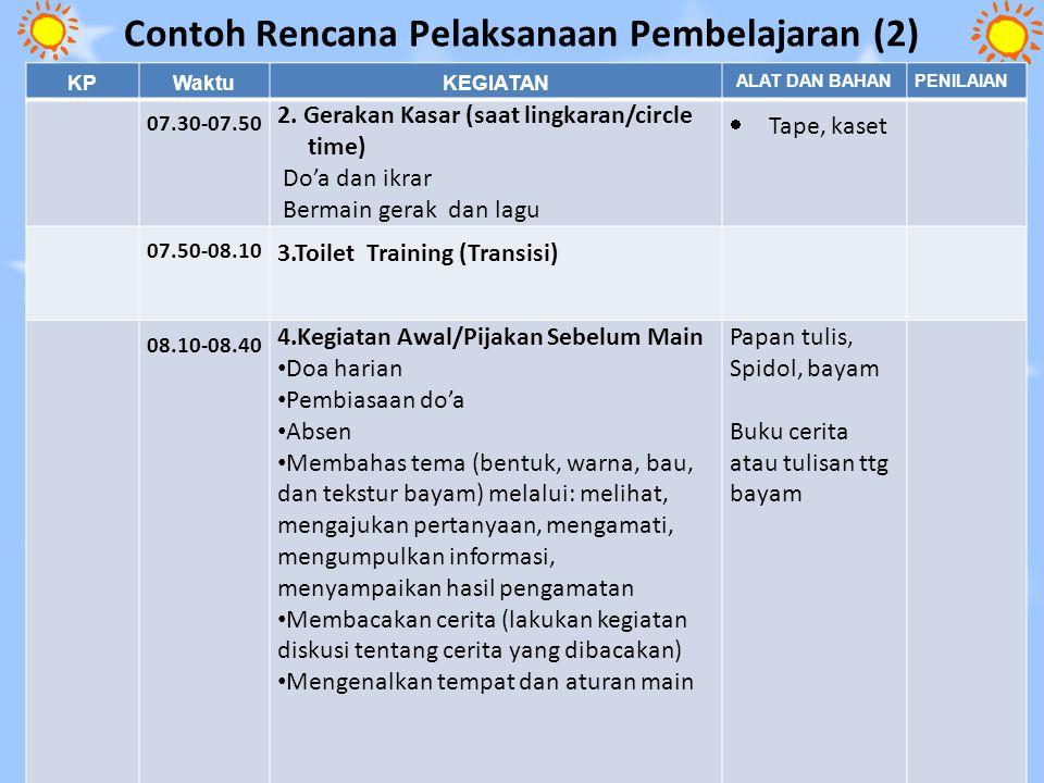 Contoh Rencana Pelaksanaan Pembelajaran (2)