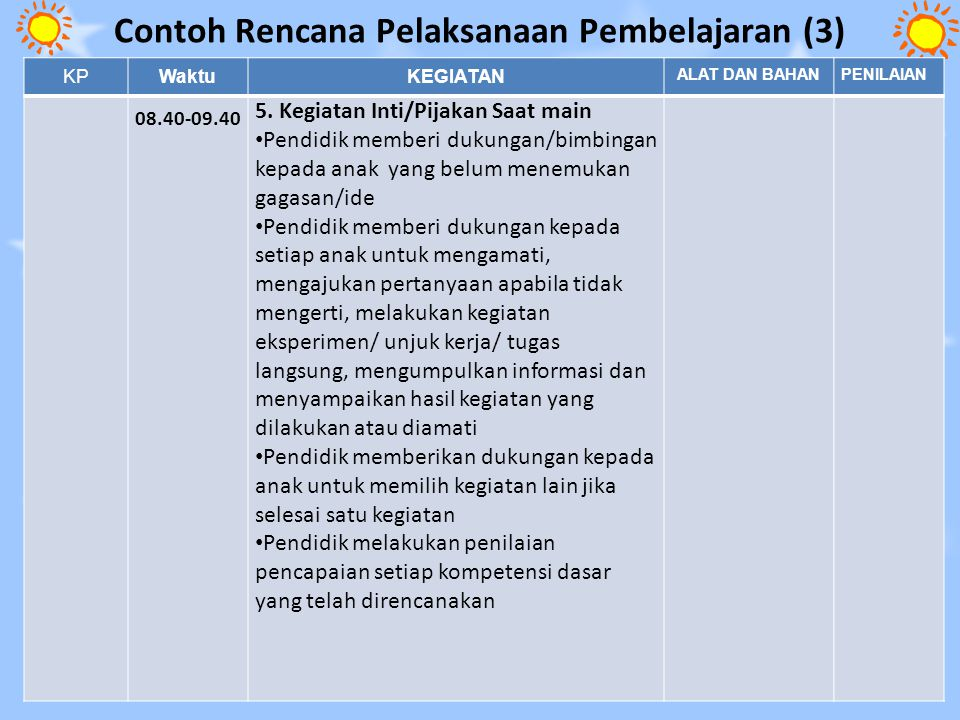 Contoh Rencana Pelaksanaan Pembelajaran (3)